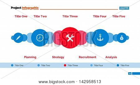 Process diagram. Element of chart, presentation, diagram with circles. Concept for business templates, infographics, reports. Can be used for topics like strategy, marketing analysis, planning