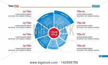 Radial diagram. Element of presentation, diagram, chart. Concept for business templates, infographics, marketing, reports. Can be used for topics like marketing, business data, analysis, statistics