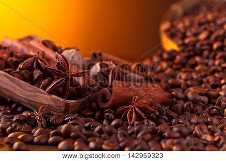 Roasted Coffee Beans With Spices