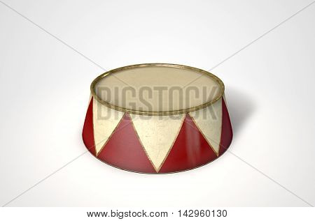Circus Podium Isolated