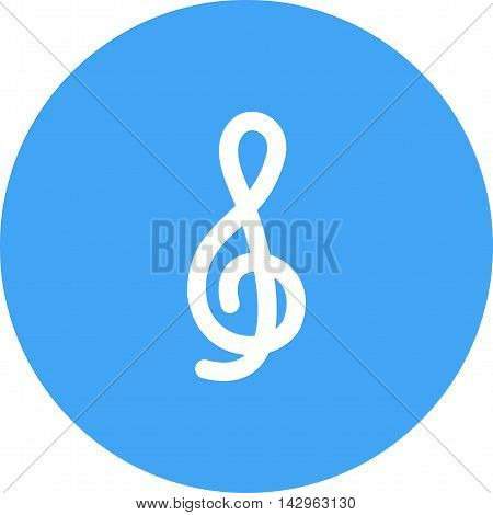 Treble, clef, music icon vector image. Can also be used for music. Suitable for use on web apps, mobile apps and print media.