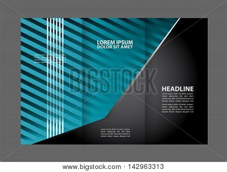 brochure design template colored stripes transparent abstract