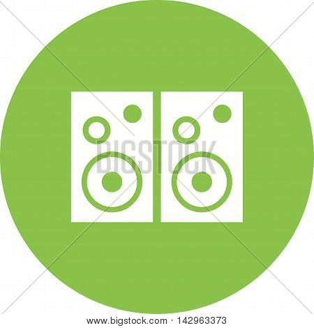 Speaker, sound, music icon vector image. Can also be used for music. Suitable for web apps, mobile apps and print media.