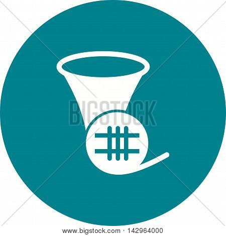 Horn, french, music icon vector image. Can also be used for music. Suitable for web apps, mobile apps and print media.