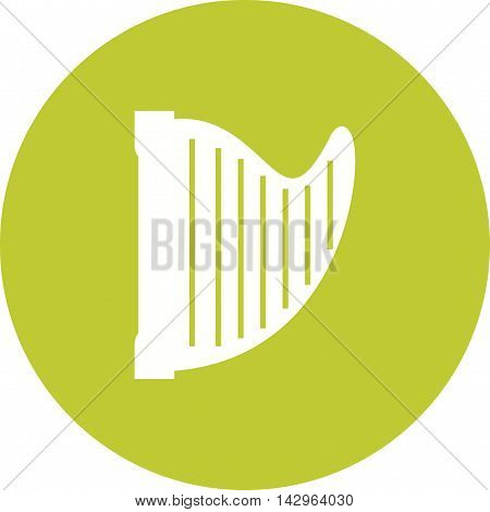 Harp, art, ancient icon vector image. Can also be used for music. Suitable for web apps, mobile apps and print media.