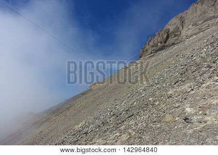 Mountain in Switzerland, at the height of approximately 3000m (Dents du midi, Haute Cime).