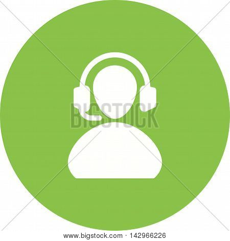 Support, headset, center icon vector image. Can also be used for customer services. Suitable for web apps, mobile apps and print media.