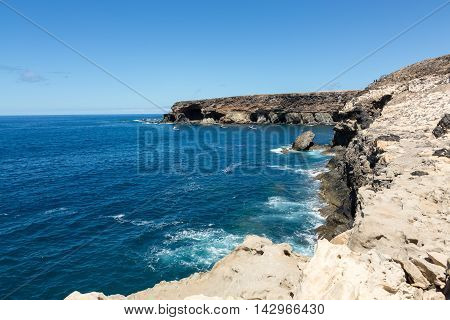 Coves and caves in Ajuy Fuerteventura Canary Islands Spain