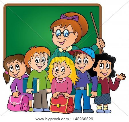 School class theme image 3 - eps10 vector illustration.