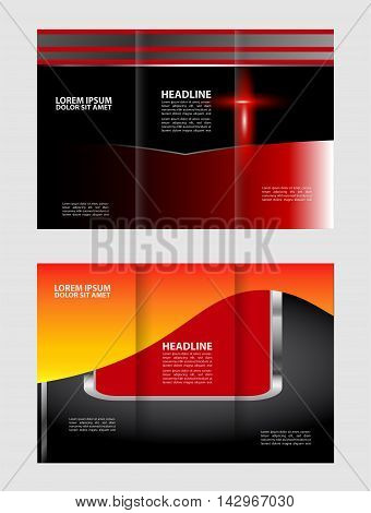 Vector brochure template design with elements. EPS 10