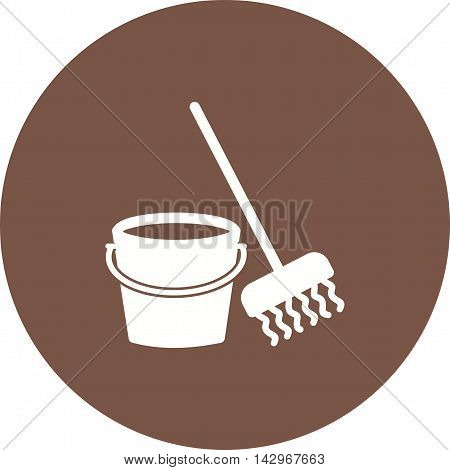 Mop, cleaning, mopping icon vector image.Can also be used for home. Suitable for mobile apps, web apps and print media.