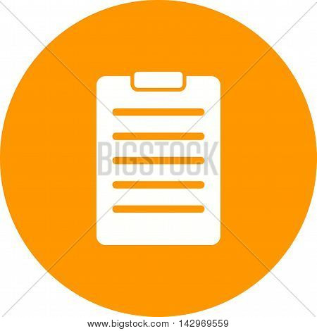 Receipt, invoice, bill icon vector image. Can also be used for shopping. Suitable for use on web apps, mobile apps and print media.
