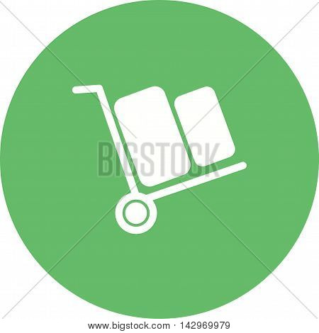 Carrying, box, heavy icon vector image. Can also be used for shopping. Suitable for use on web apps, mobile apps and print media.