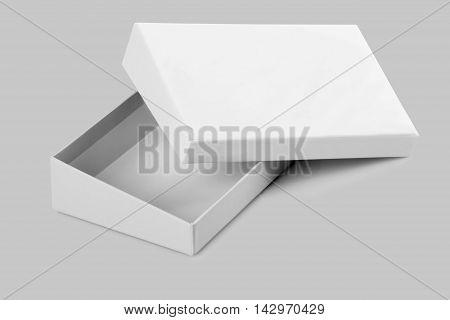 Blank Open White Card Board Box for Mockup