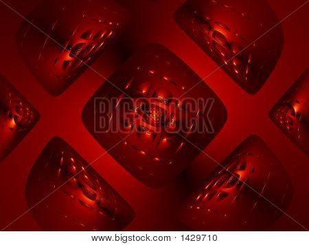 Dark Red Glass Diamond Pattern Background