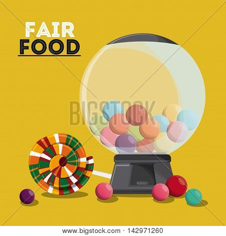 candy sweet fair food snack carnival festival icon. Colorful design. Vector illustration