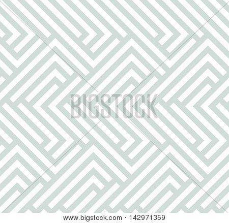 Seamless geometric pattern for your designs and backgrpounds. Modern vector ornament with repeating elements. Light blue pattern
