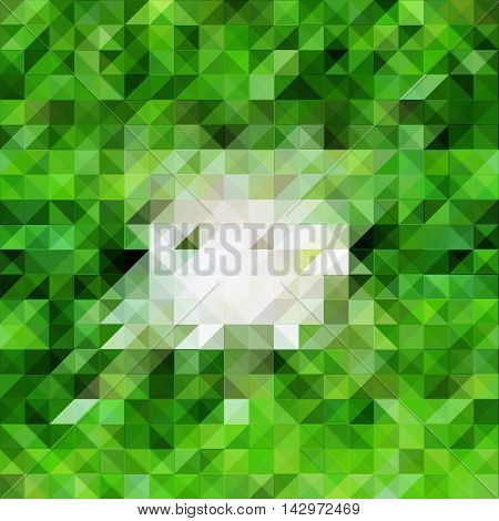 Centered pattern tile image in green and white scalable vector background. Juicy lime color abstract illustration for backdrop design template digital paper. White center textured composition