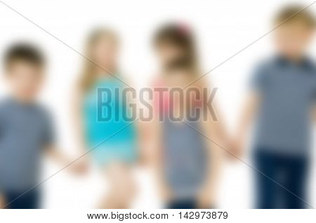 Kids studio photoshoot theme creative abstract blur background with bokeh effect