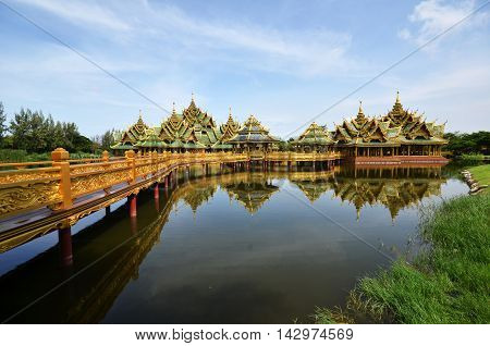 Pavilion of the Enlightened in Ancient city in Bangkok Thailand