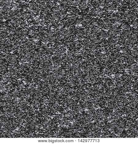 Seamless background of white noise on black background. Vector illustration