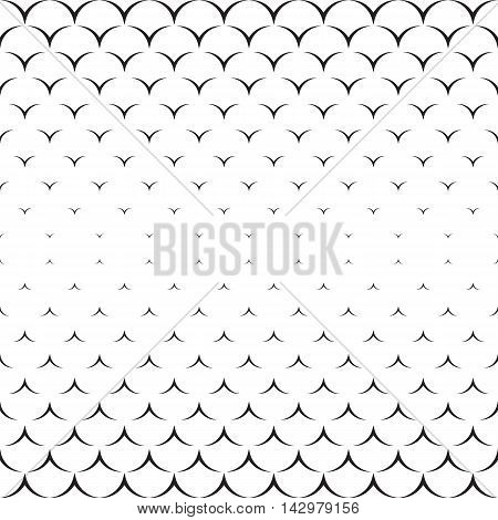 Monochrome texture. Endless abstract illustration. Geometric seamless pattern. Modern repeating design. Black and white decor.