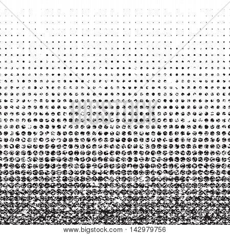 Grunge seamless halftone background with noise. Vector illustration