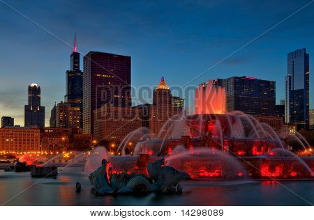 Chicago,Buckingham Fountain