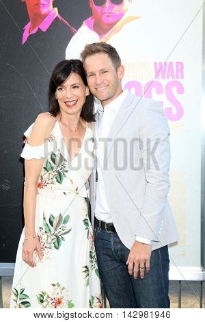 LOS ANGELES - AUG 15:  Perrey Reeves, Aaron Fox at the War Dogs