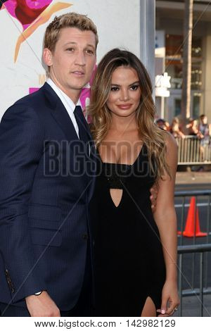 LOS ANGELES - AUG 15:  Miles Teller, Keleigh Sperry at the War Dogs