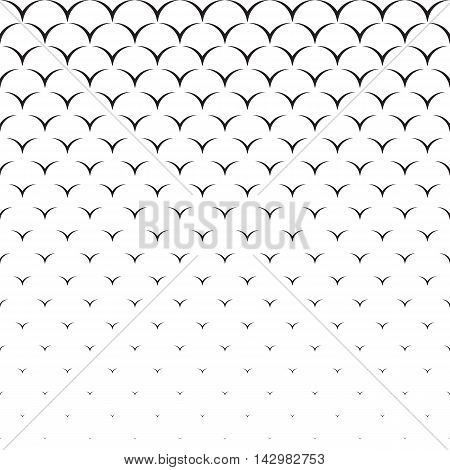Monochrome backdrop. Endless abstract horizontal texture. Geometric horizontal seamless illustration. Modern repeating pattern. Black and white design.