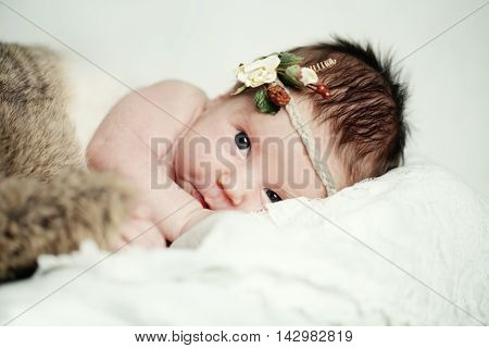 Baby girl up to 1 month background