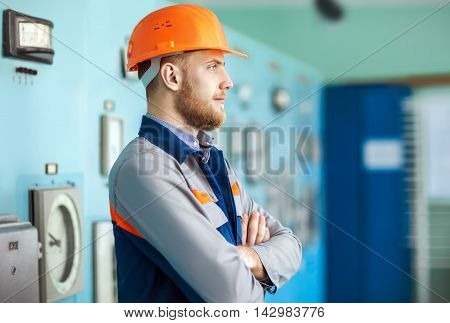 Profile Of Young Engineer At Workplace