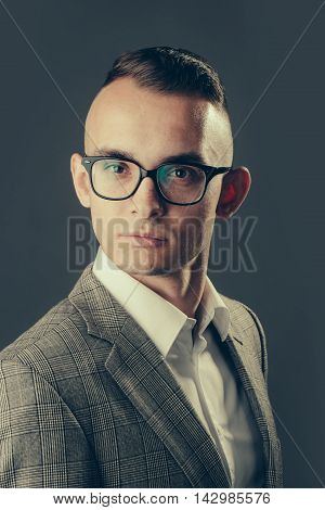 Elegant Young Businessman Posing