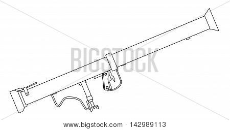 A typical bazooka anti tank weapon isolated on a white background