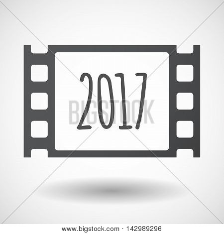 Isolated Celluloid Film Frame Icon With  A 2017 Year  Number Icon