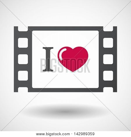 Isolated Celluloid Film Frame Icon With  An