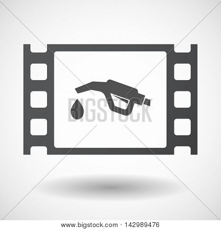 Isolated Celluloid Film Frame Icon With  A Gas Hose Icon
