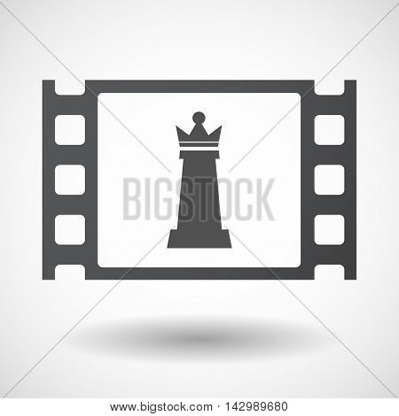 Isolated Celluloid Film Frame Icon With A  Queen   Chess Figure