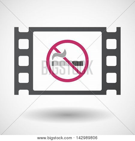 Isolated Celluloid Film Frame Icon With  A No Smoking Sign