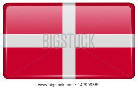 Flags Military Order Malta In The Form Of A Magnet On Refrigerator With Reflections Light. Vector