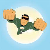 Постер, плакат: Комикс как зеленый супер герой