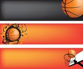 basketball strip template set with space for text, ideal for web banner poster