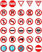 stock photo of pedestrian crossing  - Road Signs in vector format pack 1 - JPG