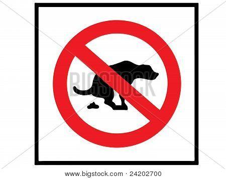 sign 'no dog shit'