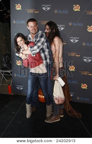 LOS ANGELES - OCTOBER 9: Melissa Rycroft; husband Tye Strickland at the 3rd annual LA Haunted Hayride on October 9, 2011 in Los Angeles, California.