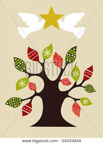 Peace And Love Christmas Tree Design Idea