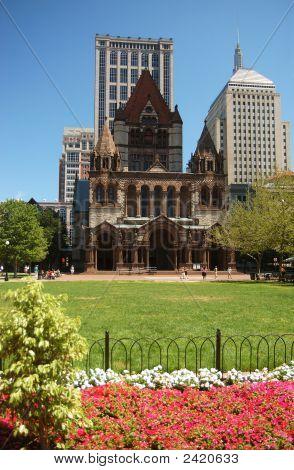 Trinity Church & Copley Square In Boston, Ma
