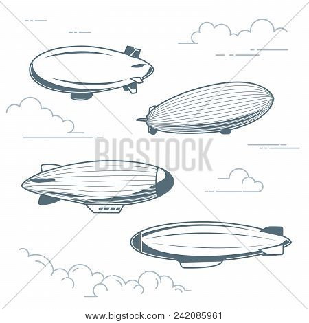 Collection Of Vintage Airships Hot