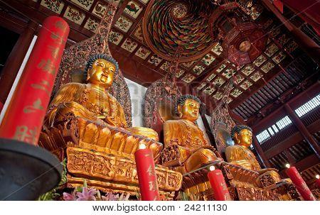 Three buddhas, China